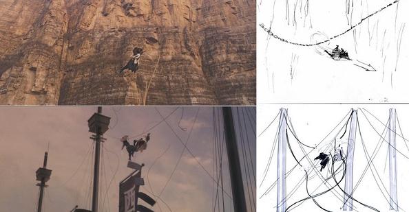 《龙门飞甲》分镜和成片对比